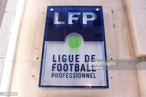 The offices of the LFP during the telephone conference at the French League to announce the suspension of all matches as a means of tackling the...