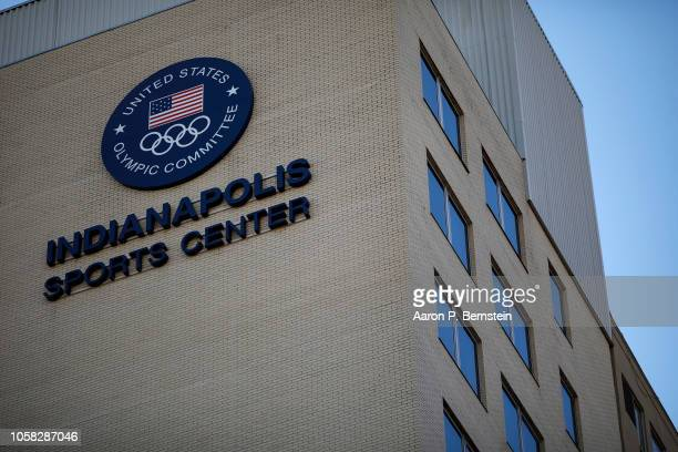 The offices of USA Gymnastics and the US Olympic Committee are seen on November 6 2018 in Indianapolis Indiana The committee announced its intention...