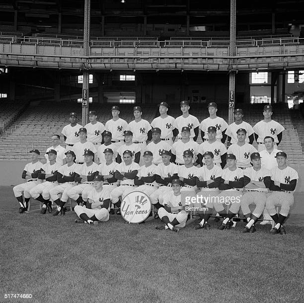 The official 1964 Yankee teram picture takwen here on September 16th at Yankee Stadium shows Whitey Ford Roger MAris Bobby Richardson Hal Reniff...