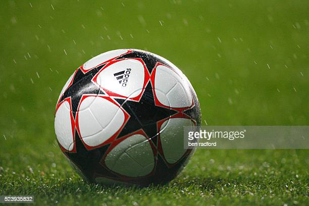 The official 2009 Adidas Champions League ball during the UEFA Champions League Group D match between Chelsea and Porto at Stamford Bridge in London...