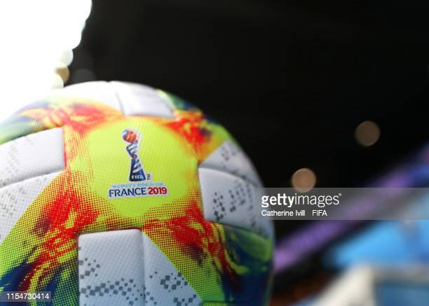 The official Adidas match ball ahead of the 2019 FIFA Women's World Cup France group A match between France and Korea Republic at Parc des Princes on...