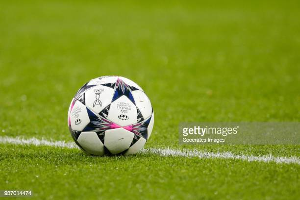 The official adidas match ball for the UEFA Womens Champions League final to be held in Kiev during the match between Olympique Lyon Women v FC...