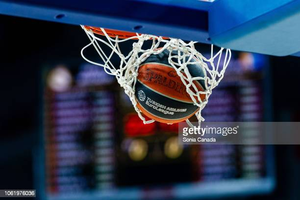 The official ball of 2018/2019 Turkish Airlines Euroleague Regular Season Round 7 game between Real Madrid and Khimki Moscow Region at Wizink Arena...