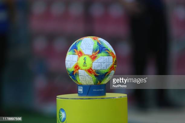 The official ball prior the FIFA U-17 World Cup Brazil 2019 group E match between Spain and Argentina at Estadio Kleber Andrade on October 28, 2019...