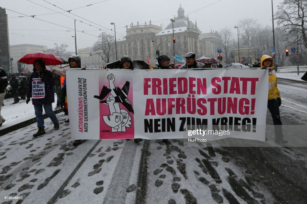 Protest against the Munich Security Conference