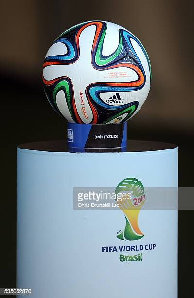 The official Brazuca match ball