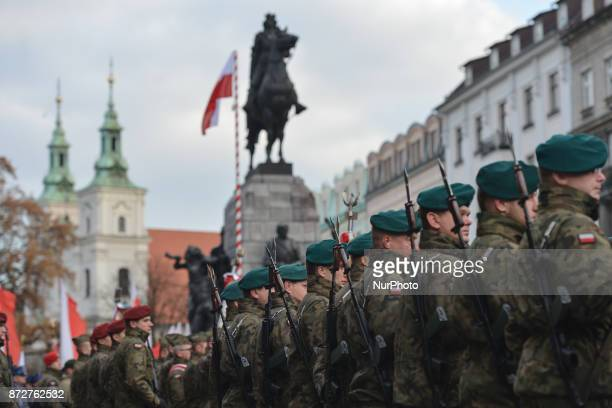 The official celebrations of the 11th November Polish Independence Day in Krakow's Matejko Square Today Poland celebrate the 99th anniversary of the...