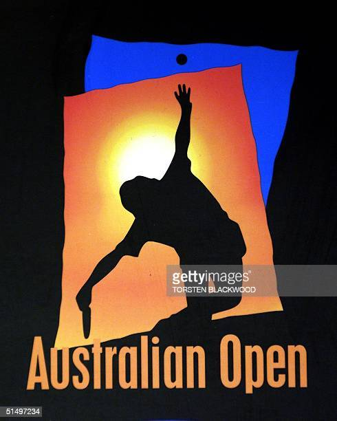 The official corporate logo of the Australian Open tennis tournament in Melbourne 18 January 2000 AFP PHOTO/Torsten BLACKWOOD