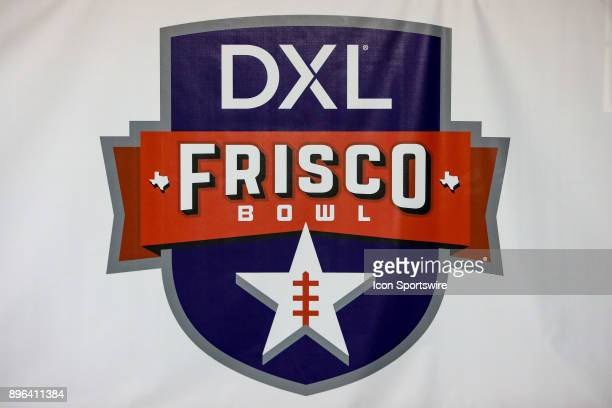 The official DXL Frisco Bowl logo is displayed at the inaugural game between the Louisiana Tech Bulldogs and SMU Mustangs on December 20 2017 at...