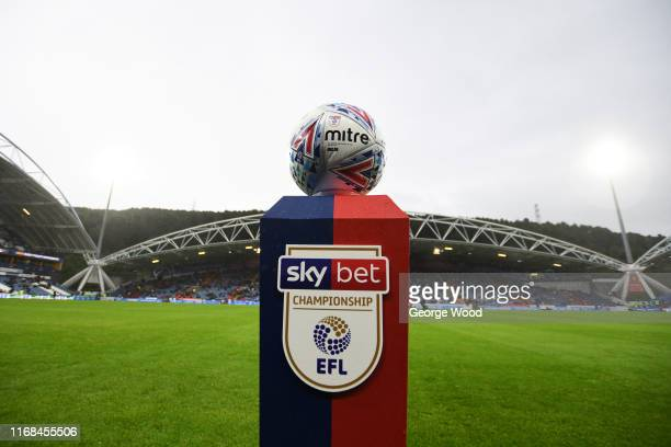 The Official EFL match ball prior to the Sky Bet Championship match between Huddersfield Town and Fulham at John Smith's Stadium on August 16, 2019...