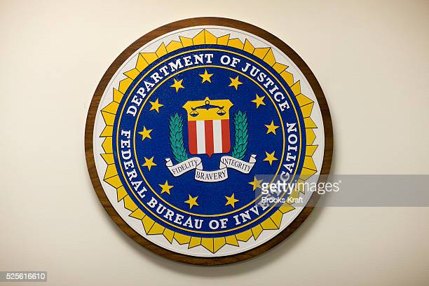 The official Federal Bureau of Investigation department seal