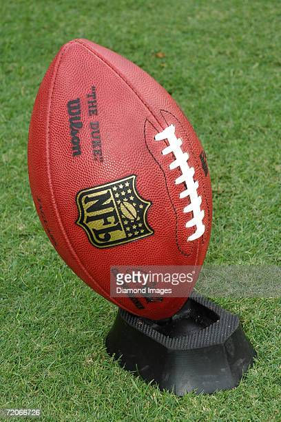 """The official football of the National Football League, """"The Duke"""" made by Wilson Sporting Goods including the signature of the newly appointed..."""