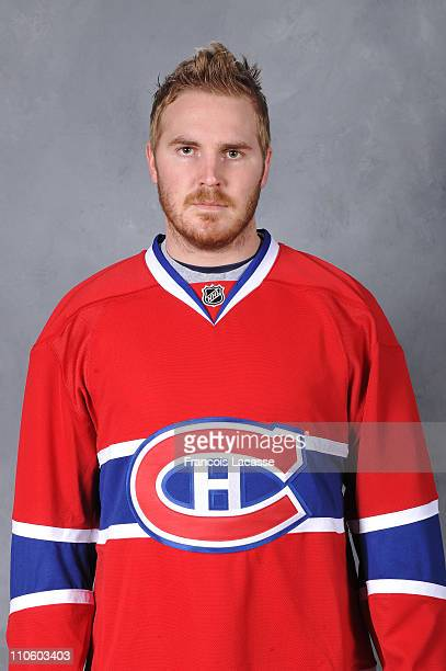 The official headshot of James Wisniewski of the Montreal Canadiens before the NHL game against the Washington Capitals on March 15 2011 at the Bell...