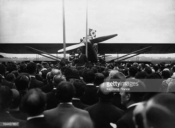 The official inauguration of the French aviation company at Le Bourget aedrome in the presence of several politicians and personalities aviation...