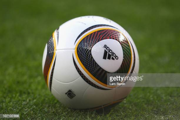 The official jabulani match ball prior to the 2010 FIFA World Cup South Africa Group F match between New Zealand and Slovakia at the Royal Bafokeng...