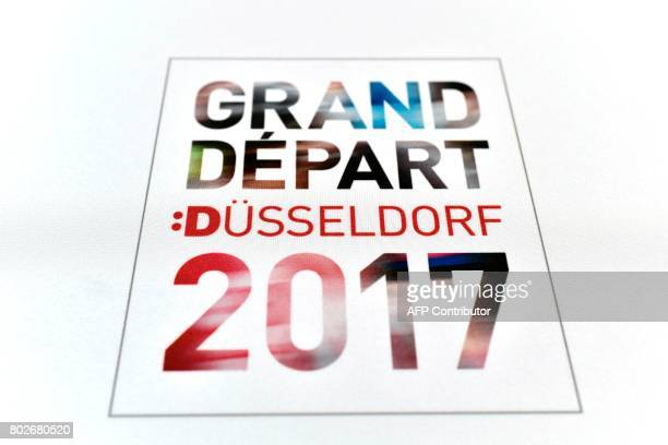 The official logo of Dusseldorf's 2017 Great Departure is pictured in Dusseldorf Germany on June 28 three days before the start of the 104th edition...