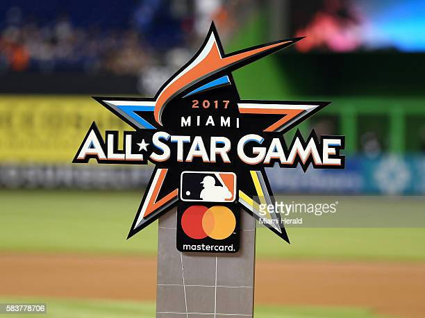 The official logo of the 2017 AllStar game which will take place July 11 was unveiled at Marlins Park July 27 2016 in Miami Fla