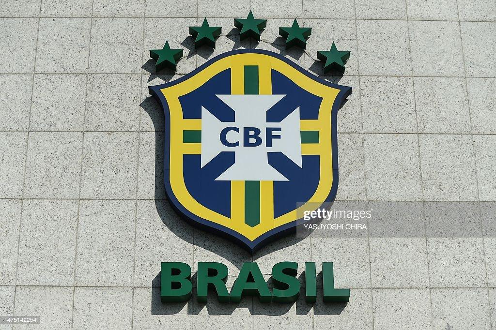 FBL-BRAZIL-FIFA-CORRUPTION-CBF-LOGO : News Photo