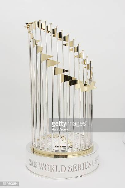 The Official Major League Baseball World Series Championship Trophy awarded by the Commissioner's Office to the 2005 World Series Champion Chicago...