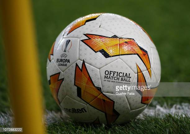 The official match ball during the UEFA Europa League Group E match between Sporting CP and Vorskla Poltava at Estadio Jose Alvalade on December 13...