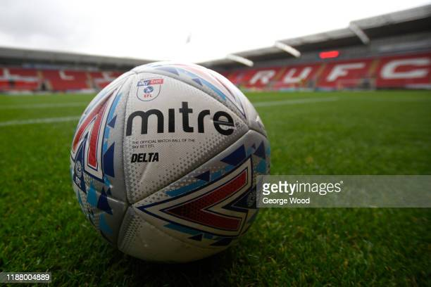 The official match ball of the Sky Bet EFL is seen ahead of the Sky Bet League One match between Rotherham United and Accrington Stanley at AESSEAL...