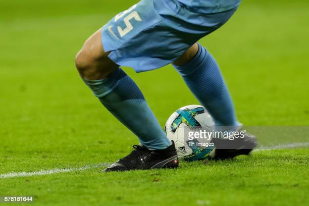 The official matchball is seen during the Bundesliga match between FC Bayern Muenchen and FC Augsburg at Allianz Arena on November 18 2017 in Munich...