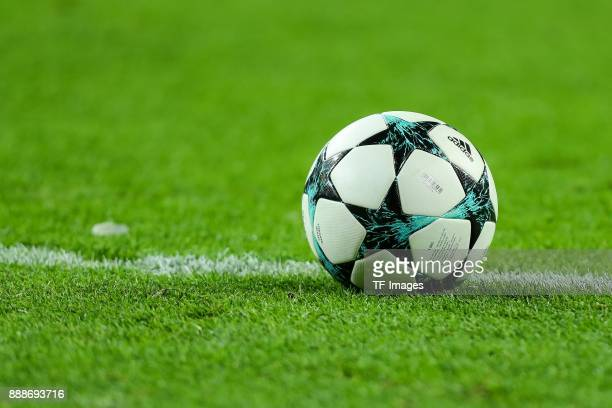 The official matchball is seen during the UEFA Champions League group G soccer match between RB Leipzig and Besiktas at the Leipzig Arena in Leipzig...