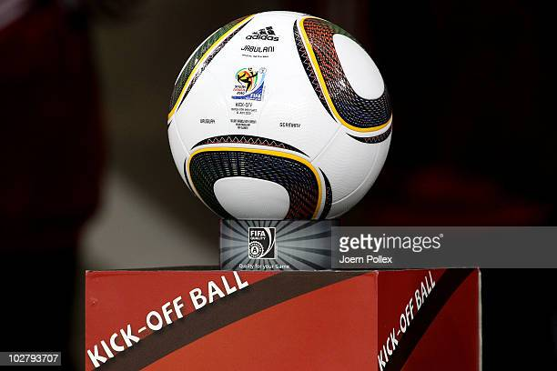 The official matchball prior to the 2010 FIFA World Cup South Africa Third Place Playoff match between Uruguay and Germany at The Nelson Mandela Bay...