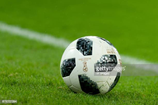 The official matchball Telstar 18 is seen during the International friendly match between Germany and France at RheinEnergieStadion on November 14...