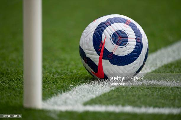 The official Nike Premier League match ball during the Premier League match between Leicester City and Tottenham Hotspur at The King Power Stadium on...
