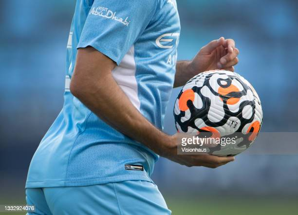The official Nike Premier League match ball during the pre-season friendly match between Manchester City and Blackpool at Manchester City Football...