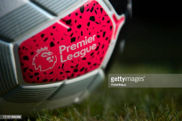 The official Nike Premier League match ball on March 27 2020 in Manchester England