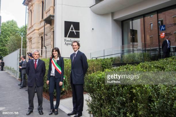 The official opening of the Fondazione Giovanni Agnelli In the picture from left Sergio Chiamparino Chiara Appendino John Elkann