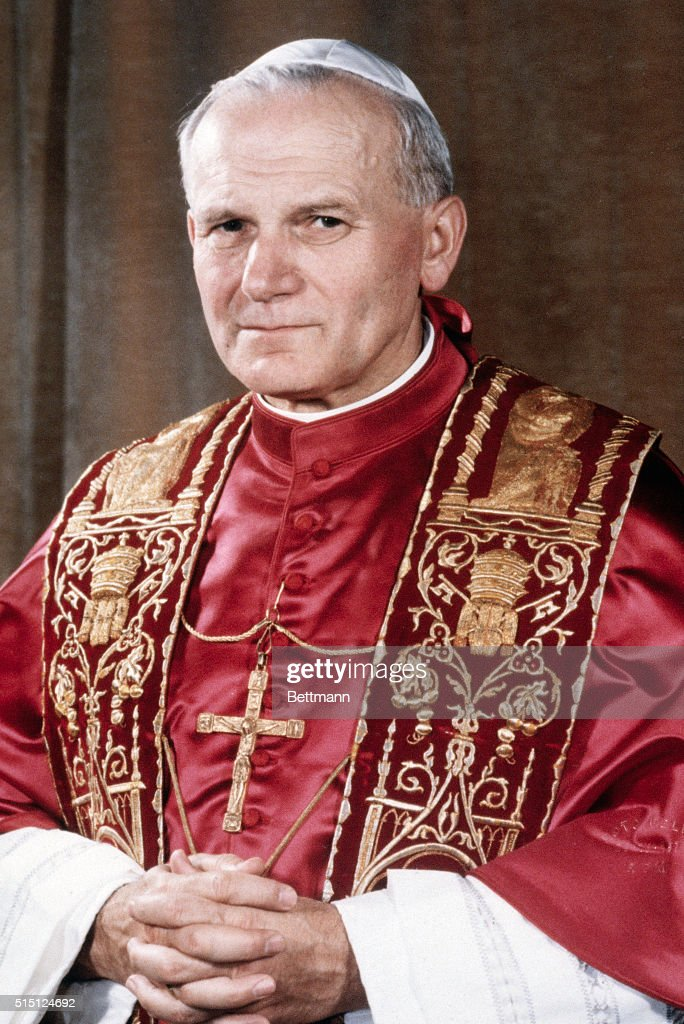 The official portrait of Pope John Paul II