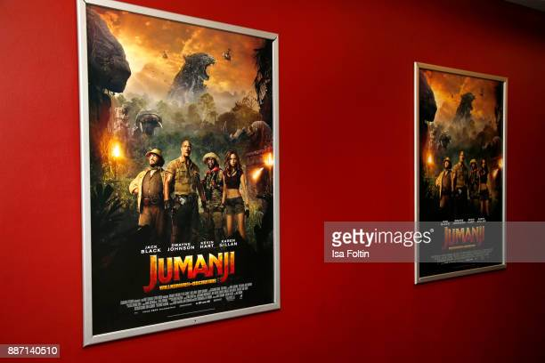 The official poster of 'Jumanji Willkommen im Dschungel' at Sony Centre on December 6 2017 in Berlin Germany