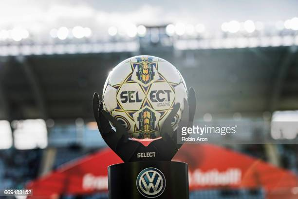 The official SELECT ball before the Allsvenskan match between IFK Goteborg and Athletic FC Eskilstuna at Gamla Ullevi on April 17 2017 in Gothenburg...