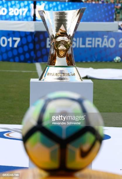 The official trophy of the brasileirao before the match between Palmeiras and Vasco da Gama for the Brasileirao Series A 2017 at Allianz Parque...
