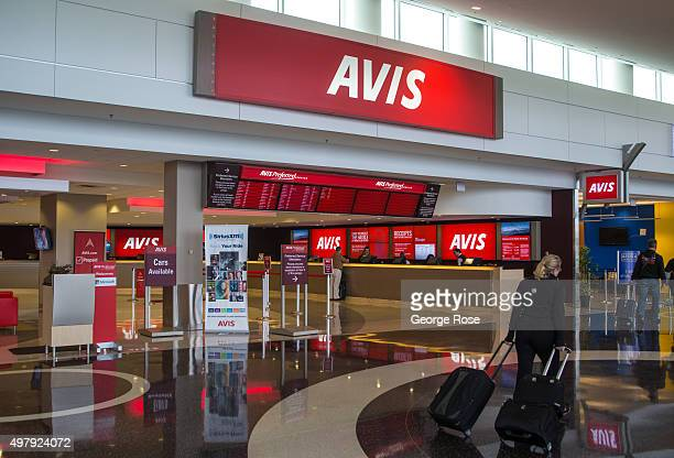The offsite Avis car rental counter at SeattleTacoma International Airport is viewed on November 3 in Seattle Washington Seattle located in King...