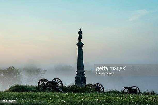 The Ohio Monument on Cemetery Hill in Gettysburg National Military Park.