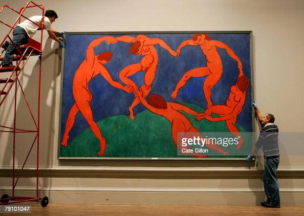 The oil on canvas Matisse painting 'The Dance ' 1910, is ...