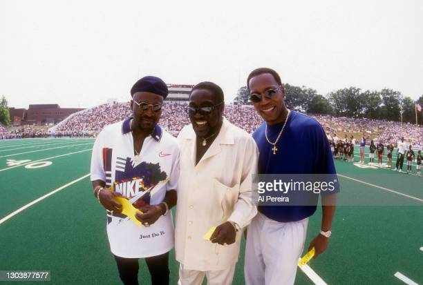 The O'Jays perform the National Anthem at the Pro Football Hall of Fame Game between the Minnesota Vikings v the Seattle Seahawks at Fawcett Stadium...