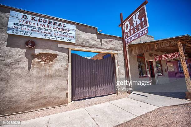 「o.k. テゥームストーンアリゾナをご満喫 - 家畜柵 ストックフォトと画像