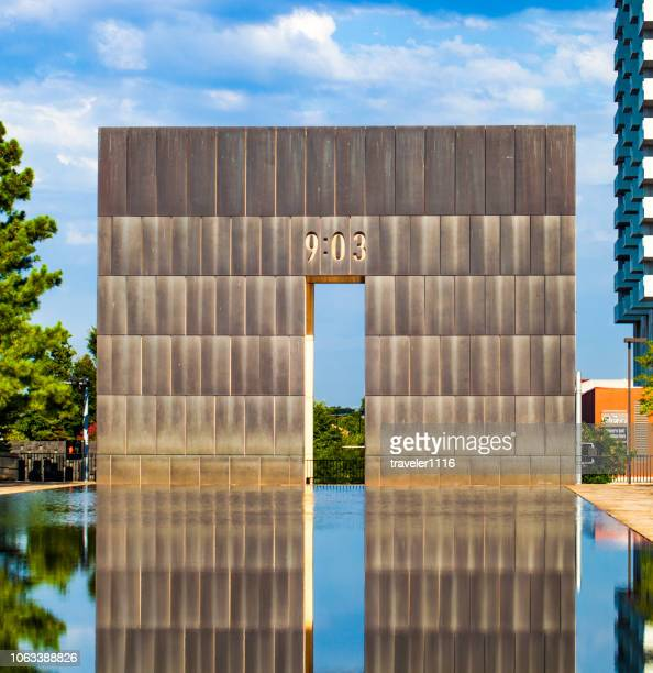 the oklahoma city national memorial - oklahoma city bombing stock pictures, royalty-free photos & images