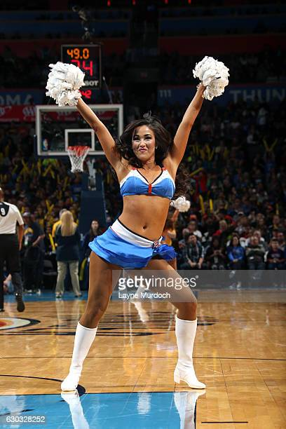 The Oklahoma City Thunder dance team performs during the game against the Atlanta Hawks on December 19 2016 at Chesapeake Energy Arena in Oklahoma...