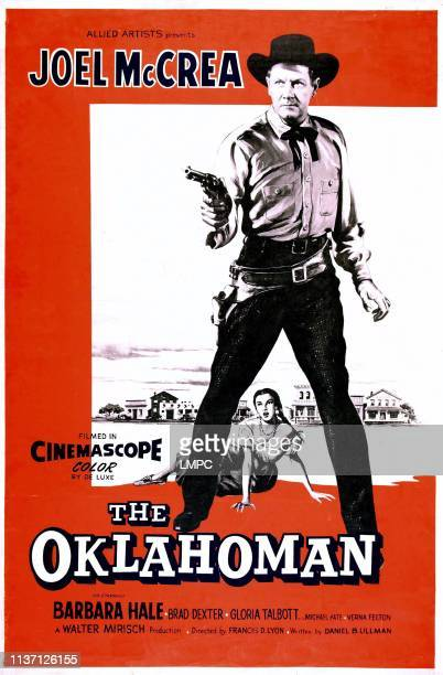 The Oklahoman poster US poster art Joel McCrea Gloria Talbott 1957