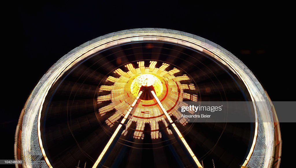 The Oktoberfest ferris wheel is pictured during the opening day of the Oktoberfest at Theresienwiese on September 18, 2010 in Munich, Germany. 2010 marks the 200th anniversary of Oktoberfest.The Oktoberfest tradition started in 1810 to celebrate the October 12th marriage of Bavarian Crown Prince Ludwig to the Saxon-Hildburghausen Princess Therese. The citizens of Munich were invited to join in the festivities which were held over five days on the fields in front of the city gates. The main event of the original Oktoberfest was a horse race. The world's biggest beer festival will last this year from September 18 to October 4.