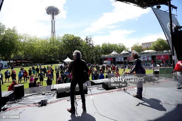 The Old 97's perform during the St Jude Rock 'n' Roll Seattle Marathon 1/2 Marathon on June 10 2018 in Seattle Washington