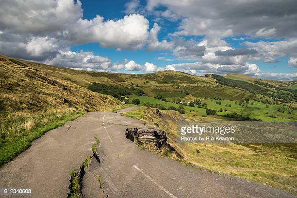 The old A625 road at Castleton in the Peak District