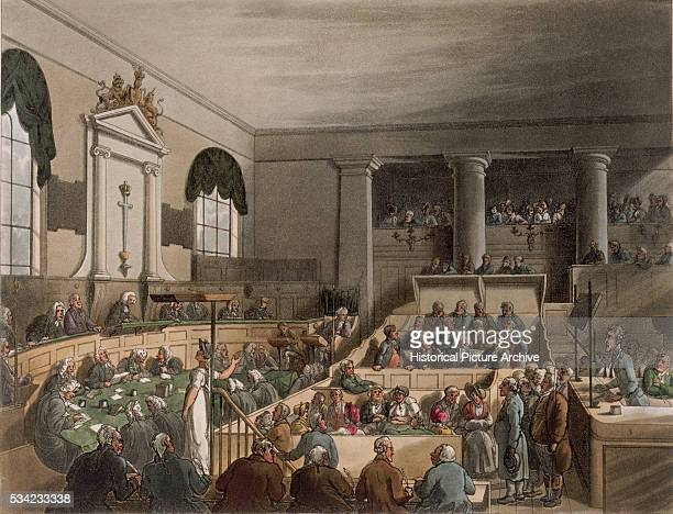 The Old Bailey by Thomas Rowlandson and Augustus Charles Pugin