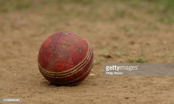 The old ball off the field during the Specsavers County Championship Division One match between Essex and Surrey at The Cloudfm County Ground on...